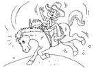 Målarbild cowboy