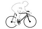 Målarbild cykeltävlan