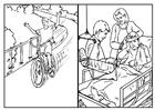 Målarbild cykling och säkerhet
