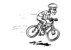 Målarbild cykling
