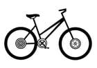 Målarbild damcykel
