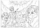 Målarbild Daniel i lejongropen