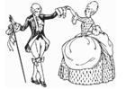 Målarbild dans - menuett