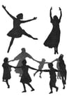 Målarbild dans