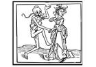 Målarbild dansa med döden