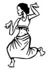 Målarbild dansare