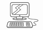 Målarbild datorhörn, forskningshörn