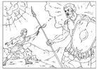 Målarbild David och Goliat