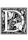 Målarbild  dekorativt alfabet - D