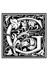 Målarbild dekorativt alfabet - G