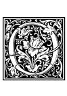 Målarbild Dekorativt alfabet - O