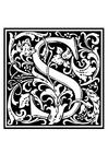 Målarbild dekorativt alfabet - S