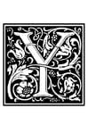 Målarbild dekorativt alfabet -Y