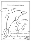 Målarbild delfiner