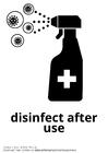 Målarbild desinficera efter användning