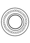 Målarbild dharmahjul