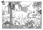 Målarbild dinosaurier