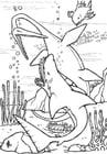 Målarbild dinosaurier under vatten