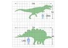 Målarbild dinosauriers mÃ¥tt