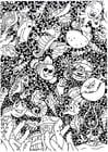 Målarbild djur i havet