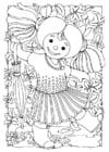 Målarbild docka - flicka