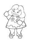 Målarbild docka