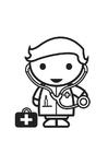 Målarbild doktor - läkare