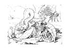 Målarbild drakdödare