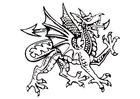 Målarbild drake