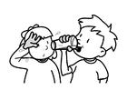 Målarbild dricka
