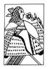 Målarbild drottning