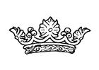 Målarbild drottningens krona