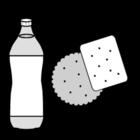 Målarbild dryck och kex
