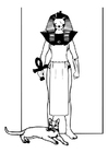 Målarbild egyptisk gud
