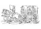 Målarbild ekipage frÃ¥n 1400-talet