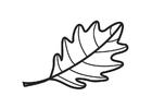 Målarbild eklöv