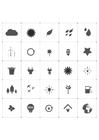Målarbild ekologiska ikoner