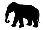 Målarbild elefant