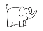 Målarbild elefanthuvud