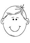 Målarbild en pojkes ansikte