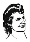 Målarbild Eva Perón