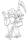 Målarbild Fader Tid - nyÃ¥r