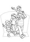Målarbild familj