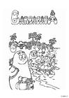 Målarbild Familjen Barbapapa - semester