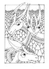 Målarbild fantasidjur