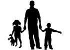 Målarbild far och barn