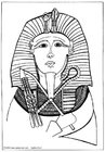 Målarbild farao