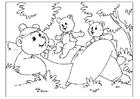 Målarbild Fars dag - björnar