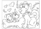 Målarbild Fars dag - hundar