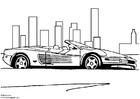 Målarbild Ferrari Testarossa